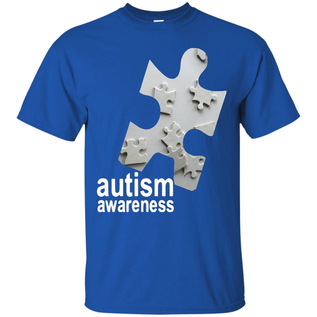 Junior-Fit-Autism-Awareness-Puzzle---Men/Women-T-Shirt-Custom-Ultra-Cotton-T-Shirt-Black-S