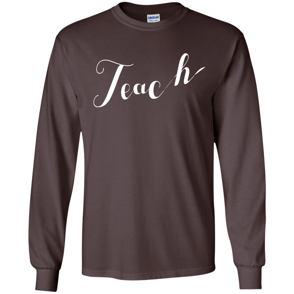 TEACH-TEE---Long-Sleeve-LS,-Sweatshirt,-Hoodie-LS-Ultra-Cotton-Tshirt-Black-S