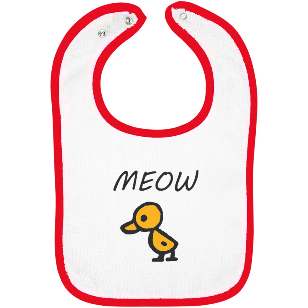 Meow-the-Duck-Snap-Bib-For-Child,-Kids-White/Black-One-Size-