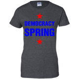 Democracy-spring-Ladies-Custom-100%-Cotton-T-Shirt-Black-XS-