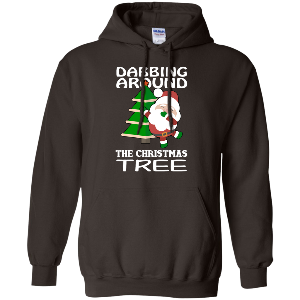 Dabbing-Around-Christmas-Tree-Funny-Hoodie-Black-S-