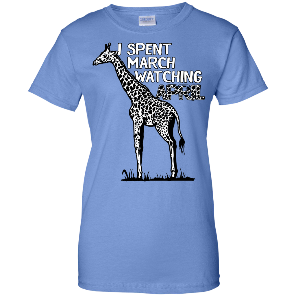 9d1b292aa2 Funny and Witty April the Giraffe Pun Distressed Ladies T-Shirt ...
