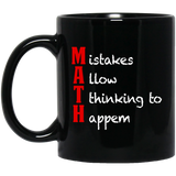 MAth-Funny-Math-Gifts-Mistakes-Allow-Thinking-11-oz.-Black-Mug-Black-One-Size-