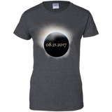 2017-US-Solar-Eclipse-Path-of-Totality-Ladies'-T-Shirt-Black-XS-
