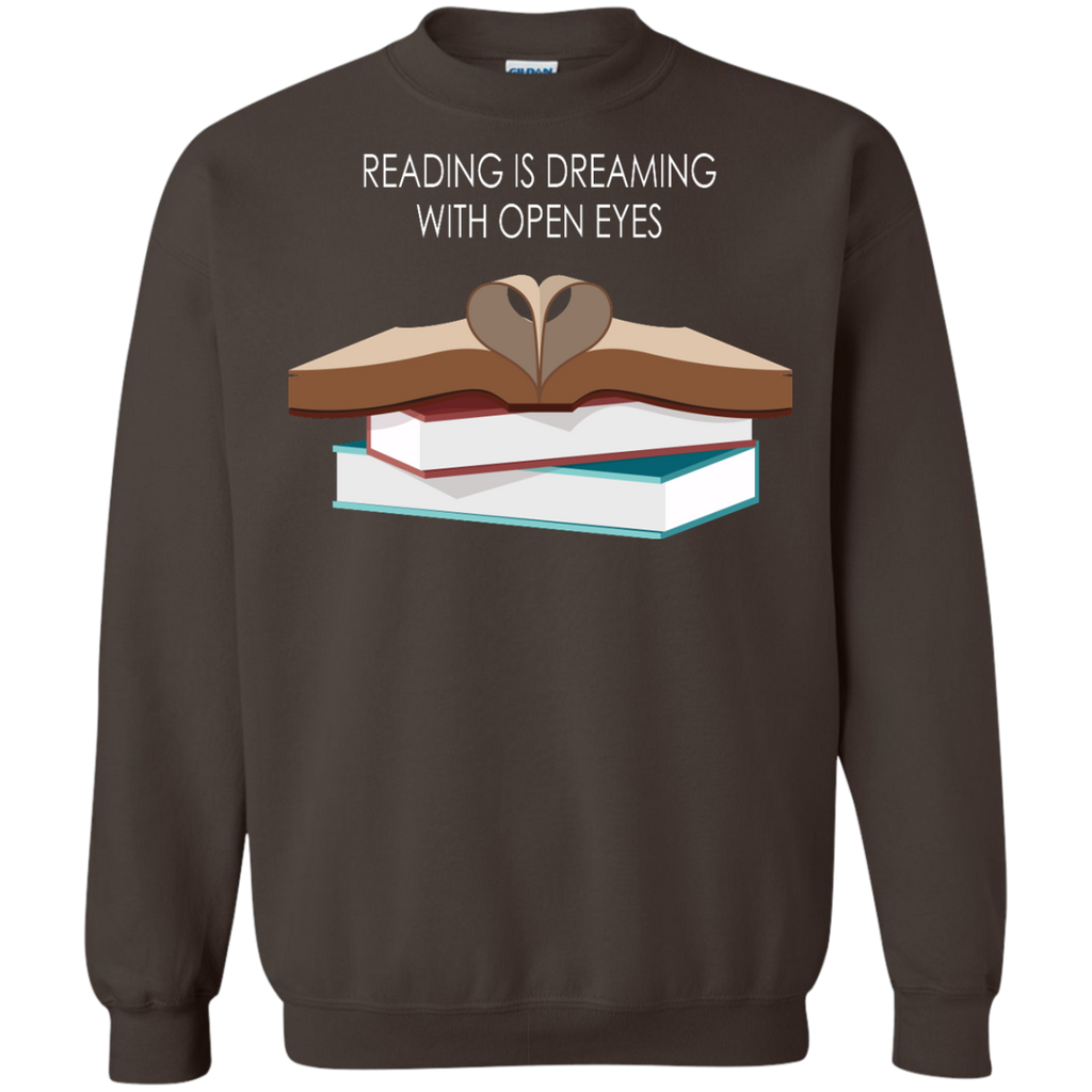 reading-is-dreaming-with-open-eyes---Reading-book---Long-Sleeve-LS,-Sweatshirt,-Hoodie-LS-Ultra-Cotton-Tshirt-Black-S