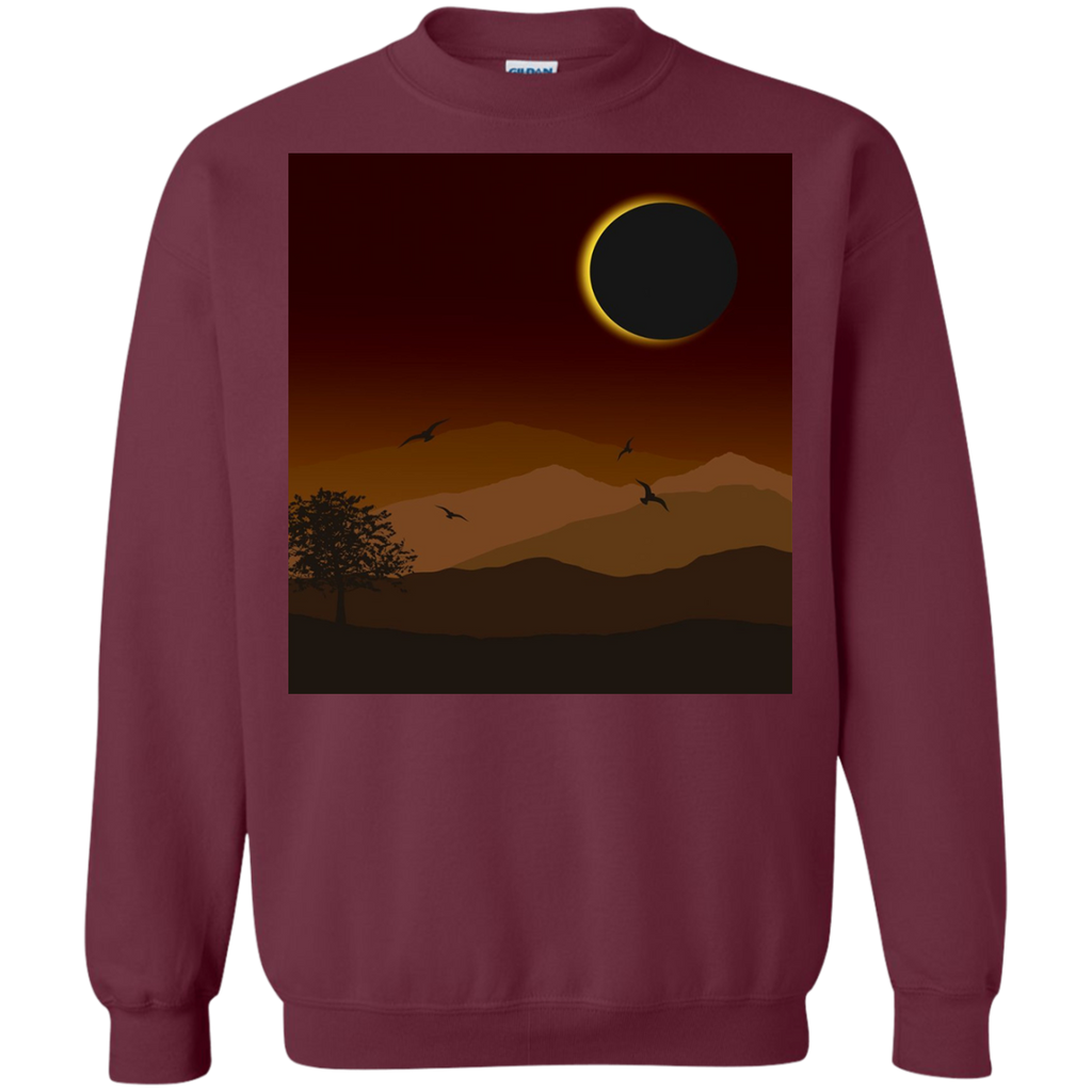 Total-Solar-Eclipse-Astronomy-August-21-2017-Pullover-Sweatshirt-Black-S-