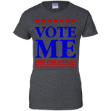 Vote-me-for-president-because-I'm-awesome-Ladies-Custom-100%-Cotton-T-Shirt-Black-XS-