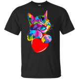 Cat-valentine's-day-Shirt-Colorful-Cute-Kitten-lovers-Kid's-T-Shirt-Sport-Grey-YXS-