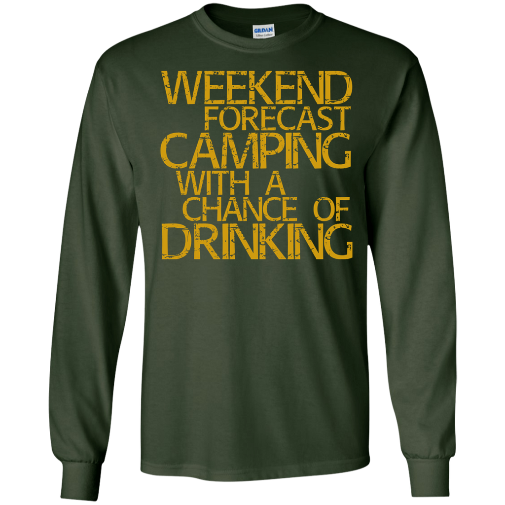 Weekend-Forecast-Camping-With-A-Chance-Of-Drinking-LS-T-Shirt-Black-S-