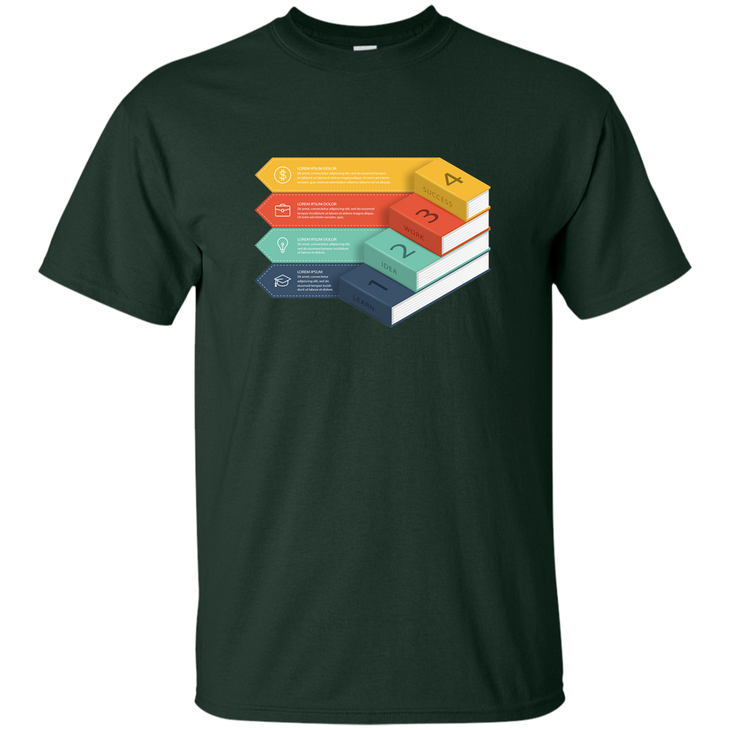 Reading-Book---with-four-steps-for-educational-success---Men/Women-T-Shirt-Custom-Ultra-Cotton-T-Shirt-Black-S