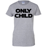 Only-child-Ladies-Custom-100%-Cotton-T-Shirt-Sport-Grey-XS-