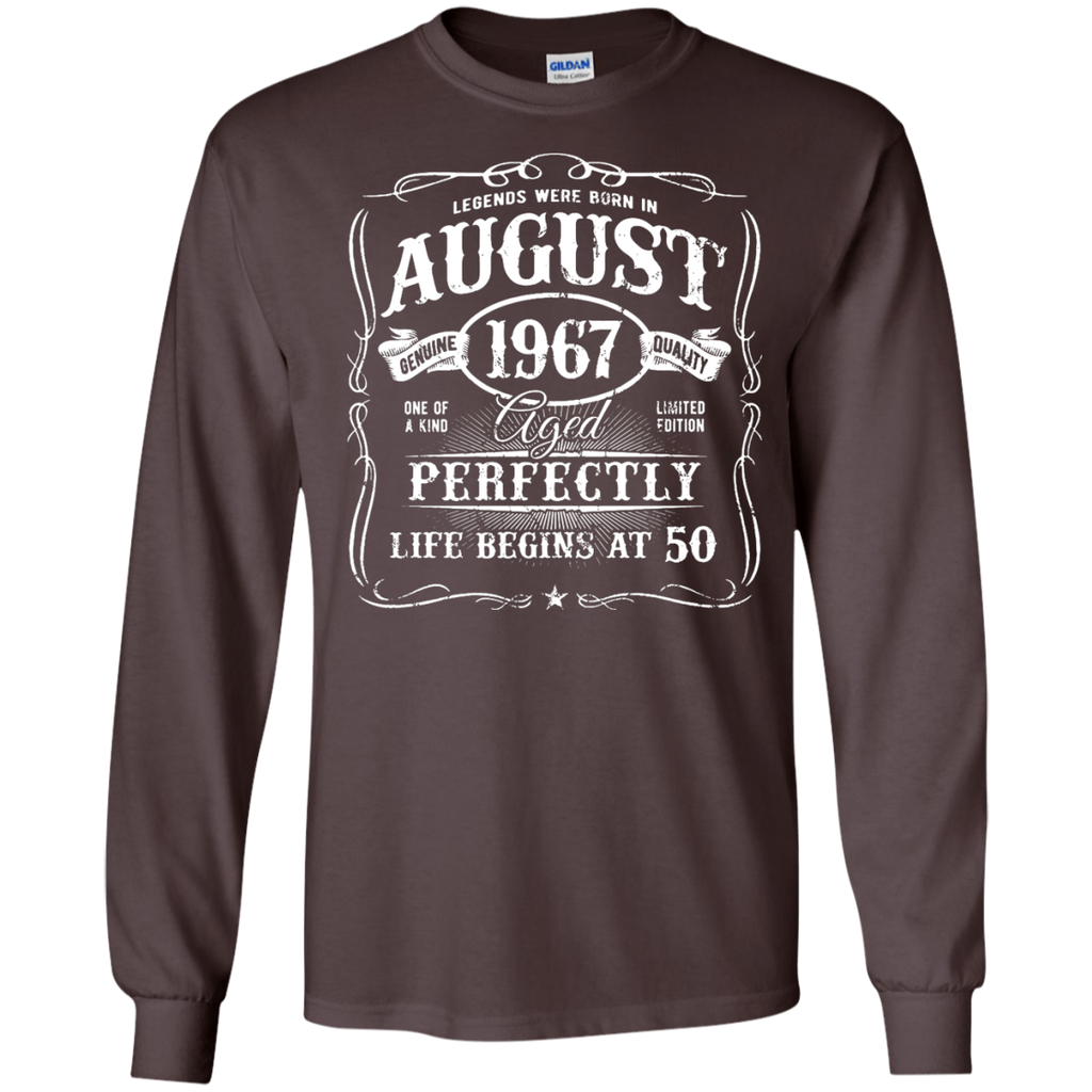 Legends-Were-Born-In-August-1967,-50th-Birthday-Gift-LS-T-Shirt-Black-S-