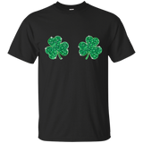 Womens Cool Shamrock Boobs Funny St. Patrick's Day Men's T-Shirt