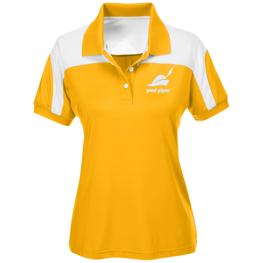 Piped-Piper-Logo---Silicon-Valley-Team-365-Ladies'-Colorblock-Polo-Athletic-Gold/White-XS-