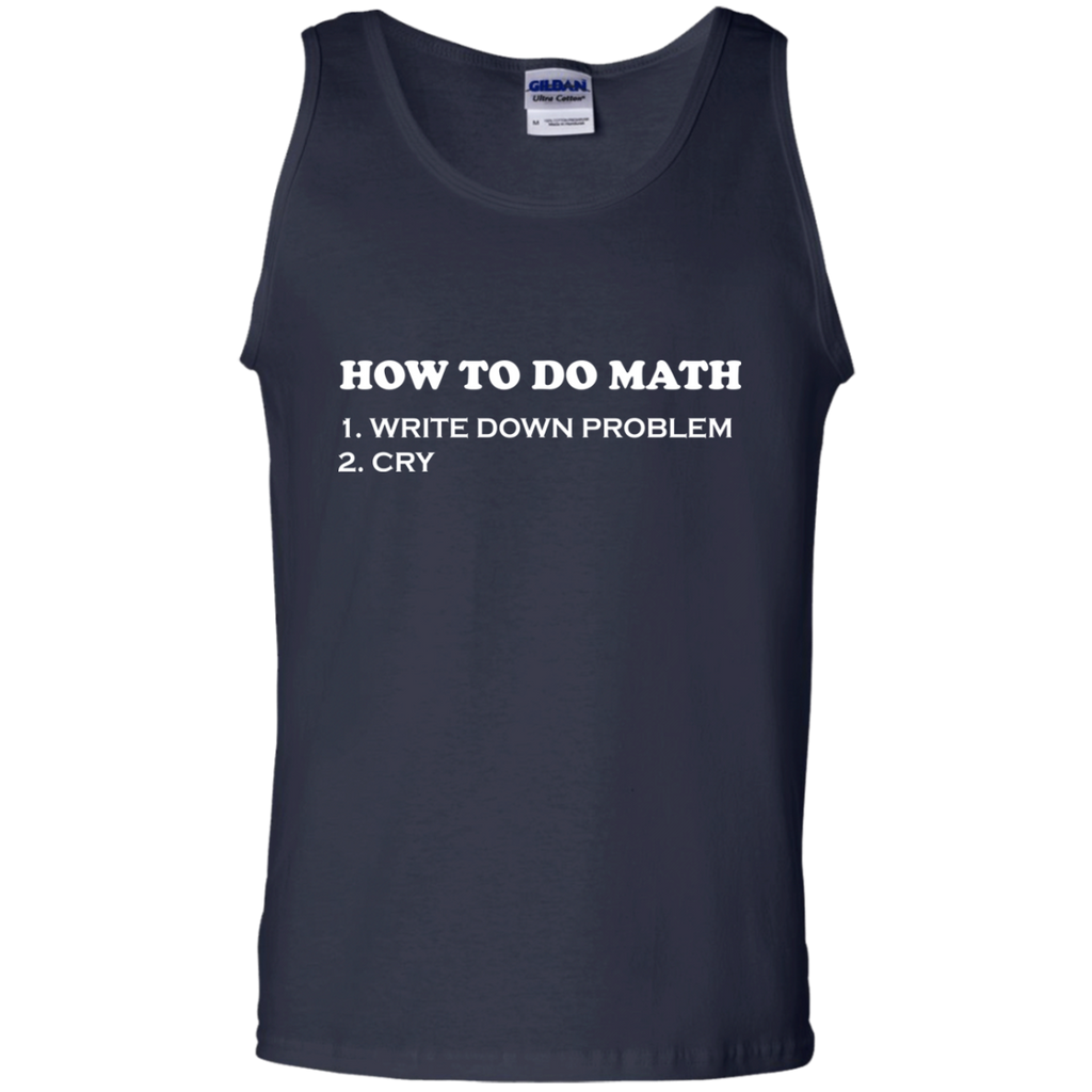How-to-do-Math-Tank-Top-Shirt-Sport-Grey-S-