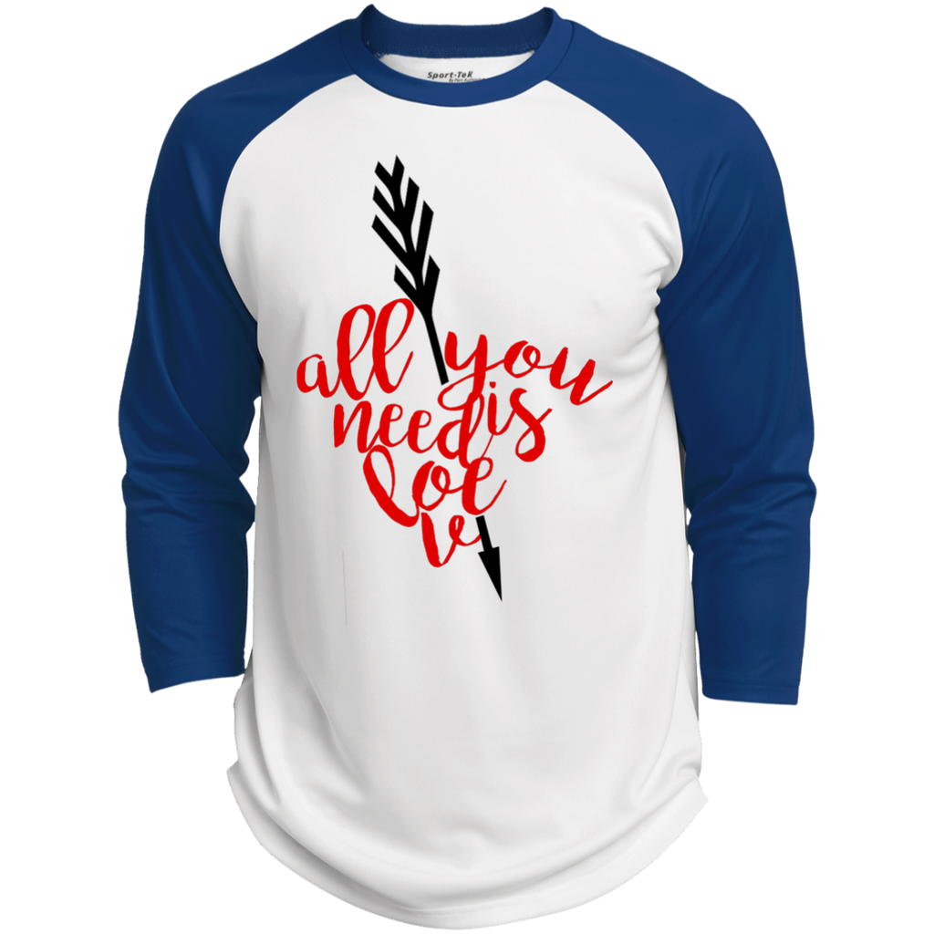 All-You-Need-Is-Love,-Valentine,-Valentine's-Day-Baseball-Polyester-Game-Baseball-Jersey-White/Black-XS-