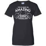 This-is-what-amazing-Dad-looks-like-Ladies-Custom-100%-Cotton-T-Shirt-Black-XS-