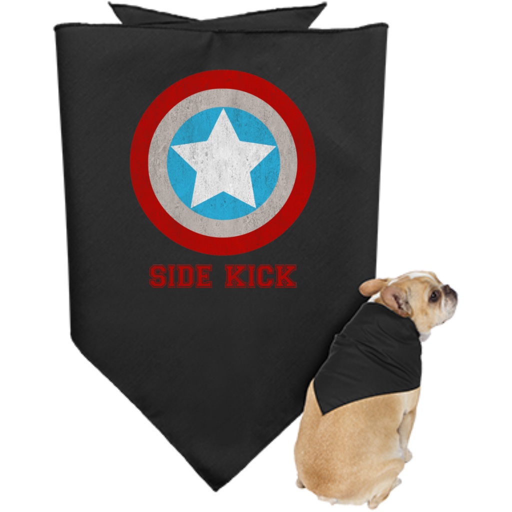 Doggie-Bandana---Side-Kick-Black-One-Size-