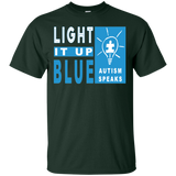 Light-It-Up-Blue-,-Autism-Speaks-Tee-Shirt-2017-April---Men/Women-T-Shirt-Custom-Ultra-Cotton-T-Shirt-Black-S