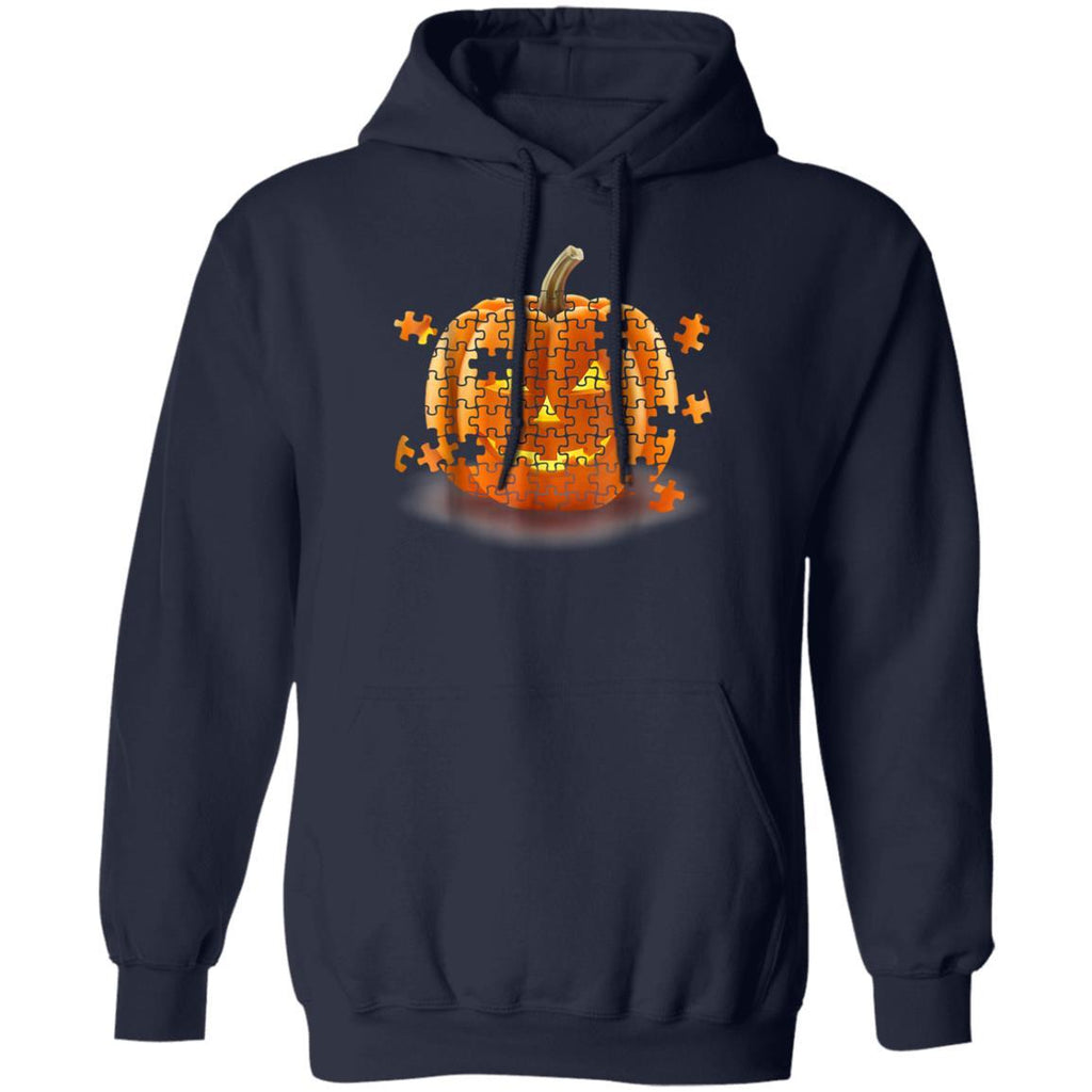 Autism Awareness Pumpkin Piece Puzzle Halloween Hoodie