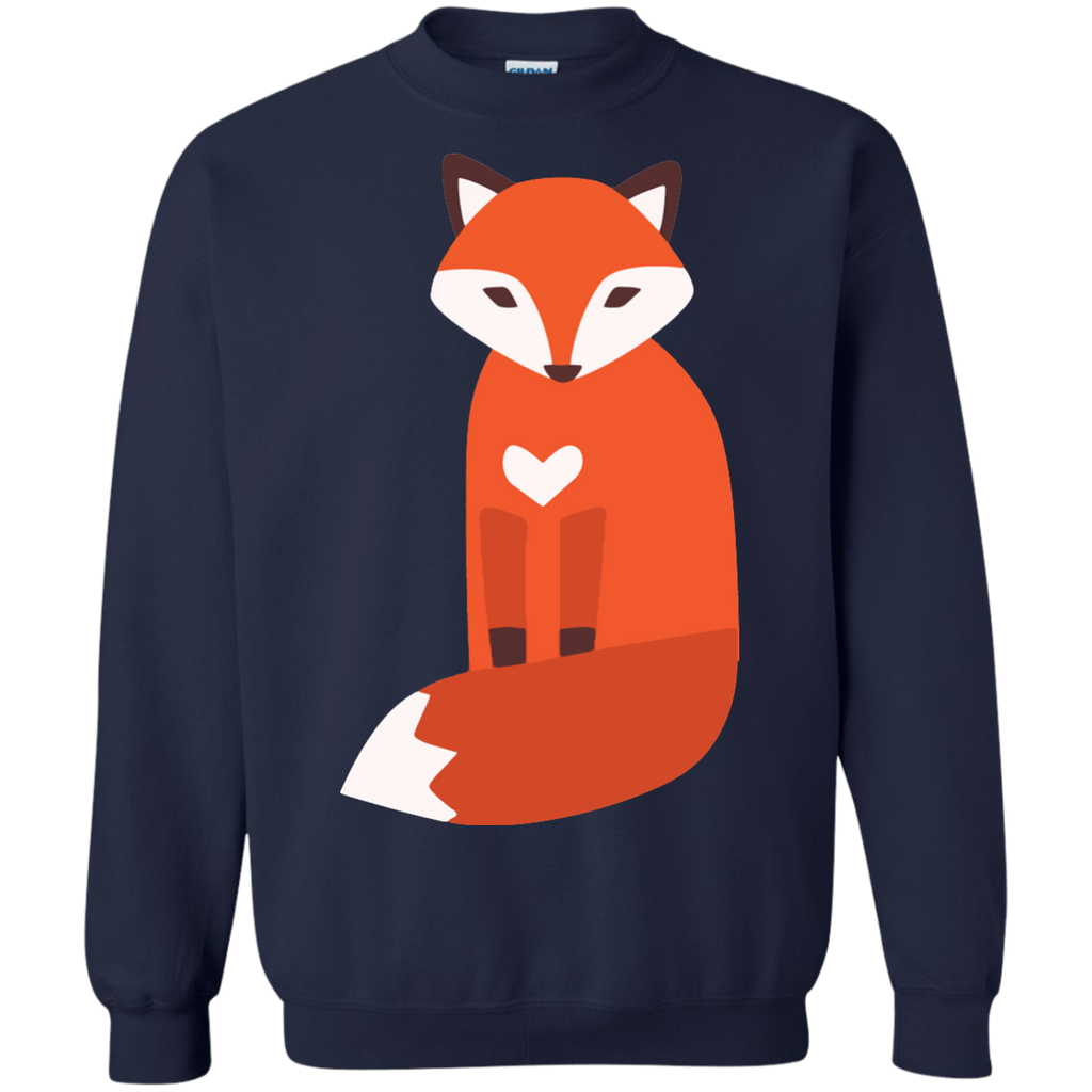 Vector-cute-fox-Pullover-Sweatshirt---Teeever.com-Black-S-