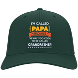 I'm-called-Papa-because-I'm-way-too-cool-to-be-called-Grandfather--Nylon-Cap-True-Navy-One-Size-