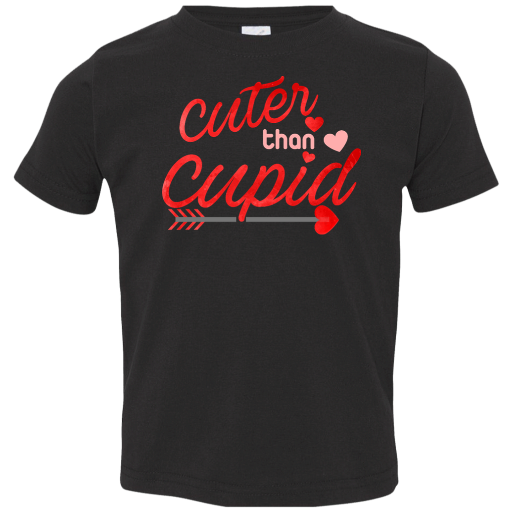 Cuter-than-cupid,-valentine-day-Toddler-Jersey-Tee-White-2T-