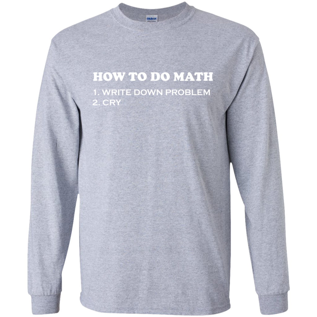 How-to-do-Math-LS-Ultra-Cotton-Tshirt-Sport-Grey-S-