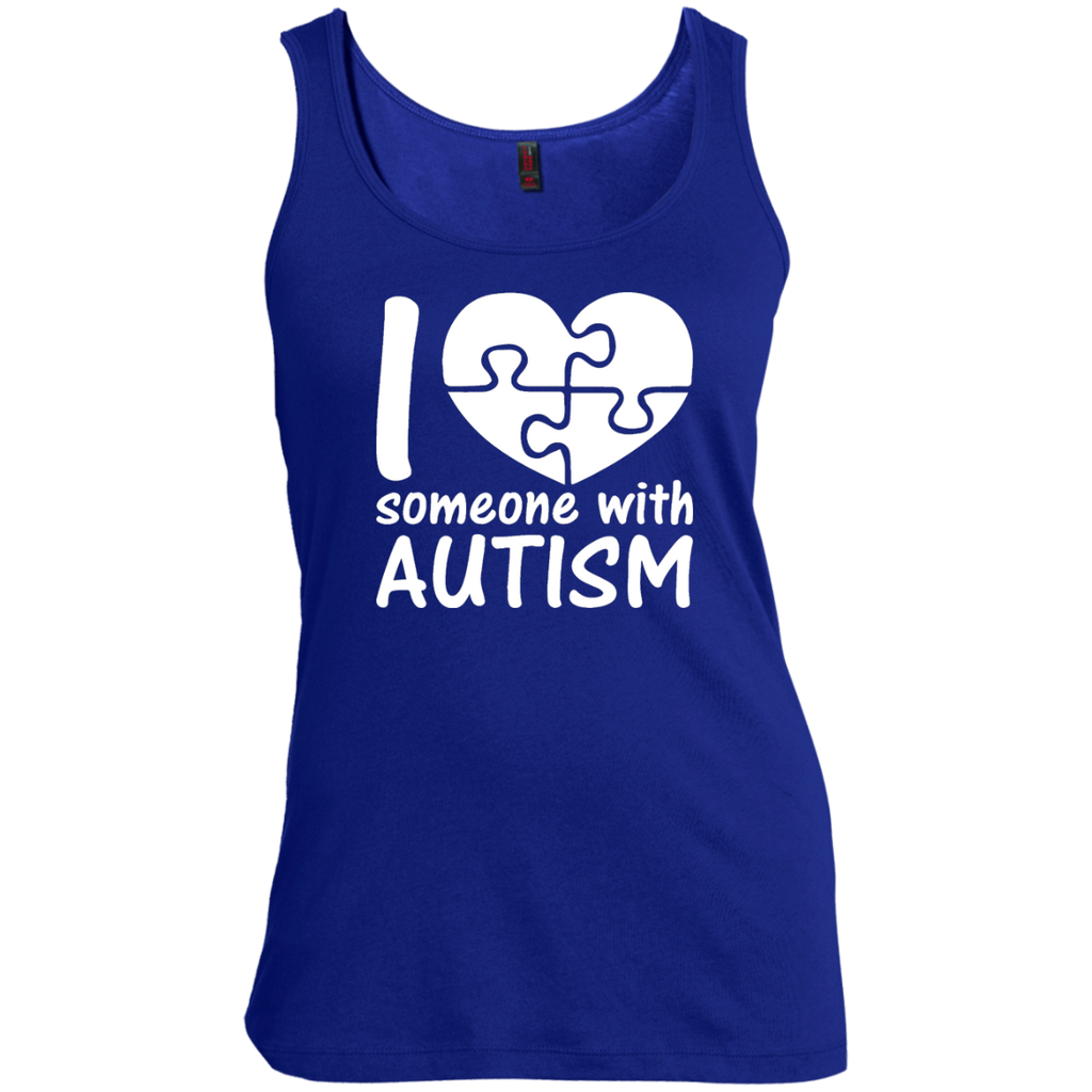 I-Love-Someone-With-Autism-Cute-Autism---Tank-top,-Women's-tank-top-100%-Cotton-Tank-Top-Black-S