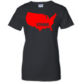 Strong-America-Ladies-Custom-100%-Cotton-T-Shirt-Black-XS-