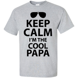Keeo-calm-I'm-the-cool-Papa-Custom-Ultra-Cotton-T-Shirt-Sport-Grey-S-