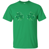 Womens-Cool-Shamrock-Boobs-Funny-St.-Patrick's-Day-Kid's-T-Shirt-Black-YXS-