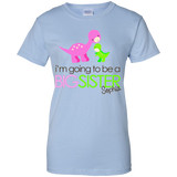 I'm-going-to-be-a-big-sister-Ladies-Custom-100%-Cotton-T-Shirt-Sport-Grey-XS-