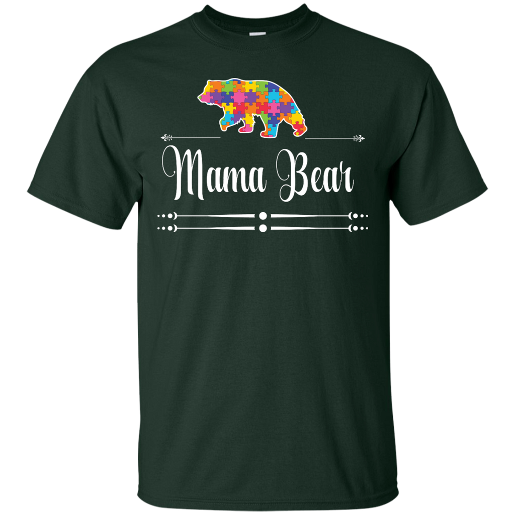 Autism-Mom-Mama-Bear-Autistic-Child-Son-Daughter---Men/Women-T-Shirt-Custom-Ultra-Cotton-T-Shirt-Black-S
