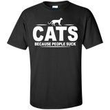 Cats-because-people-suck-T-Shirt-Black-S-