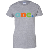 One-Ladies-Custom-100%-Cotton-T-Shirt-Sport-Grey-XS-