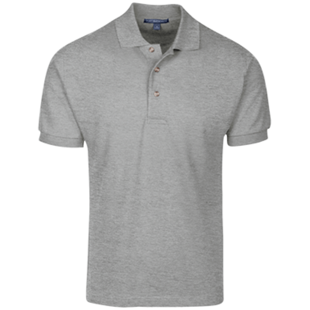 [TeeEver]-Cotton-Pique-Knit-Polo---No-Prints-P-Oxford-Grey-XS-