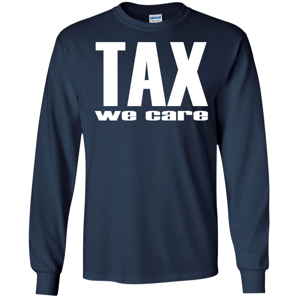 Tax-we-care---tax-march---Long-Sleeve-LS,-Sweatshirt,-Hoodie-LS-Ultra-Cotton-Tshirt-Black-S