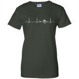 Airplane-Pilot-Heartbeat---Funny-Cute-Flying-Gift-Ladies-T-Shirt---Teeever.com-Black-XS-