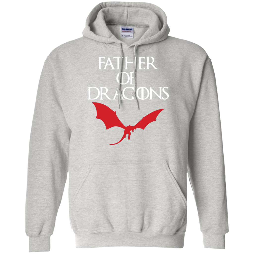 FATHER-OF-DRAGONS-T-SHIRT-Pullover-Hoodie-8-oz-Sport-Grey-S-