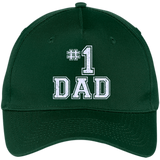 #1-Dad-Number-One-Father's-Day-Vintage-Style---Five-Panel-Twill-Cap-Navy-One-Size-