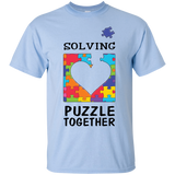 Autism-Awareness-Shirt-Solving-The-Puzzle-Together-Autism---Men/Women-T-Shirt-Custom-Ultra-Cotton-T-Shirt-Sport-Grey-S