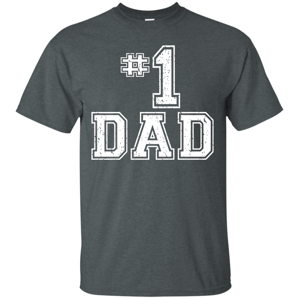 #1-Dad-Number-One-Father's-Day-Vintage-Style-T-Shirt---TEEEVER-Black-S-