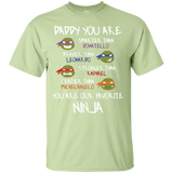 Daddy-You-Are-My-Favorite-Ninja---Superhero-T-Shirt-Custom-Ultra-Cotton-T-Shirt-Sport-Grey-S-