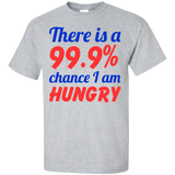 Fooood---There-Is-A-99.9%-Chance-I'm-Hungry-Custom-Ultra-Cotton-T-Shirt-Ash-S-