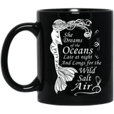 Mermaid-Maiden---She-Dreams-of-the-Oceans-11-oz.-Black-Mug-Black-One-Size-