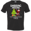 Cute-Dabbing-Around-The-Christmas-Tree-Santa-Swag-Toddler-Jersey-Tee-Black-2T-
