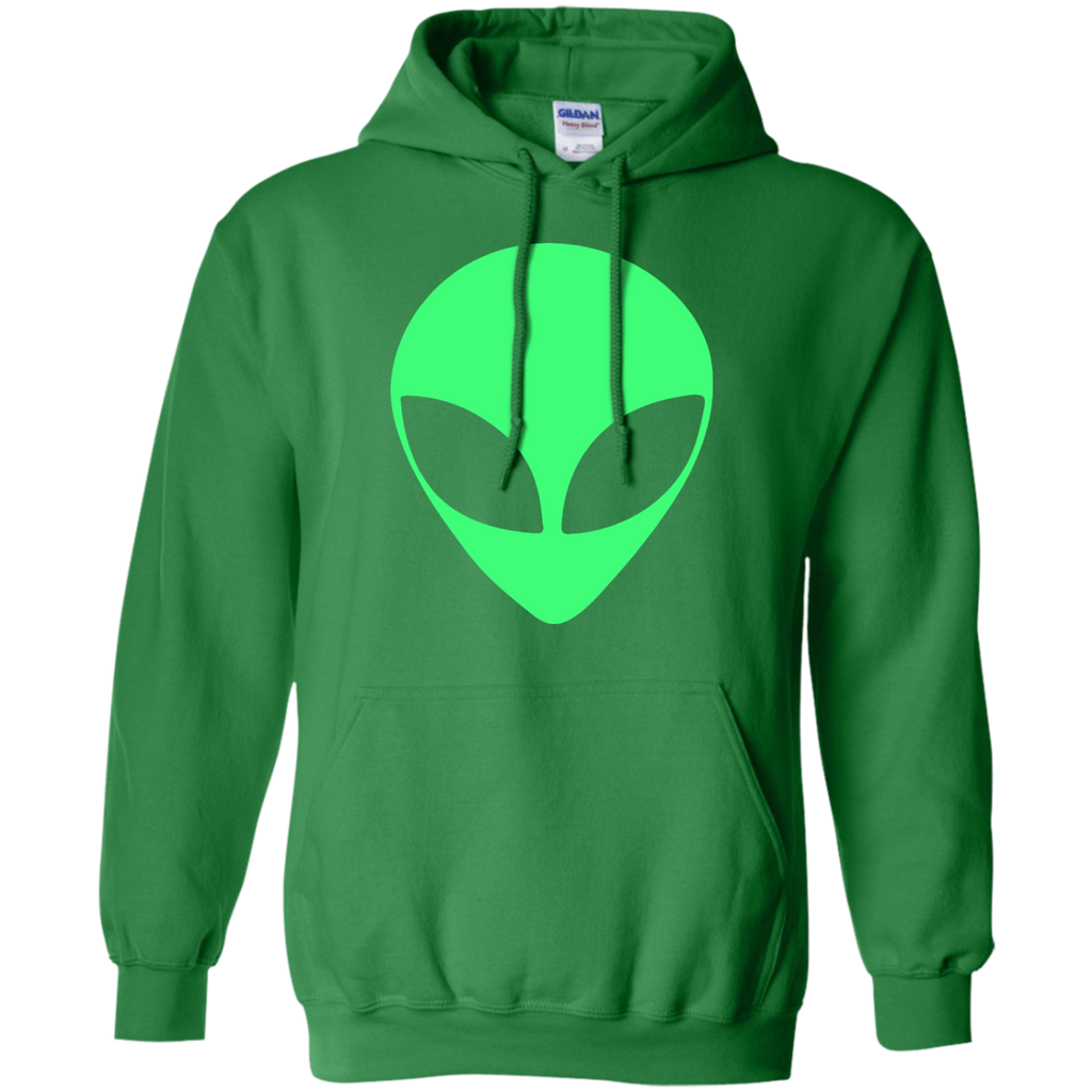 Green-Alien-Head-90's-Style---Funny-Pullover-Hoodie-Sport-Grey-S-