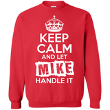 Mike---Keep-Calm-and-Let-Mike-Handle-It-Pullover-Sweatshirt---Teeever.com-Black-S-