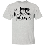 Happy Halloween Witches T-Shirt - Ash / S- Short Sleeve -TeeEver.com